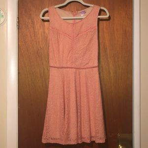 Lace salmon colored dress
